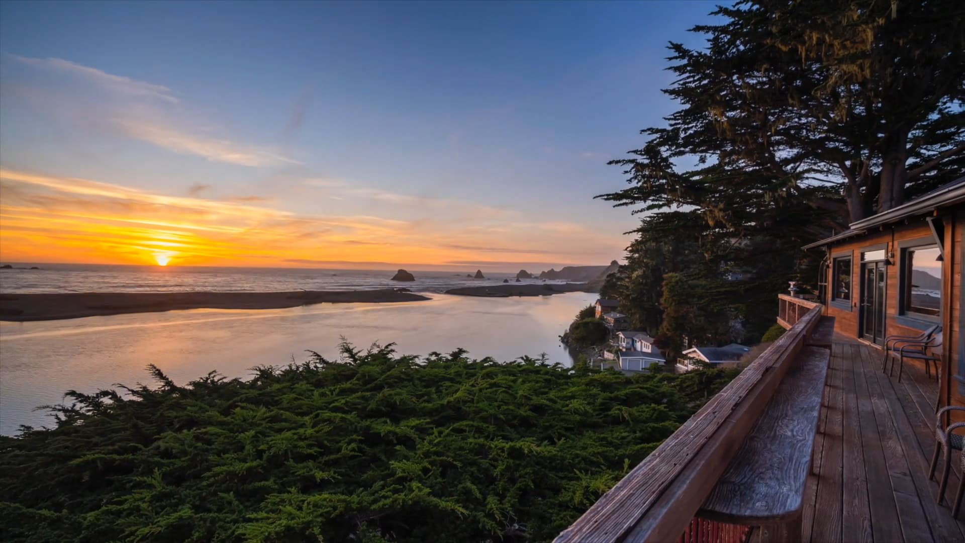Views from the deck of one of our Jenner vacation rentals