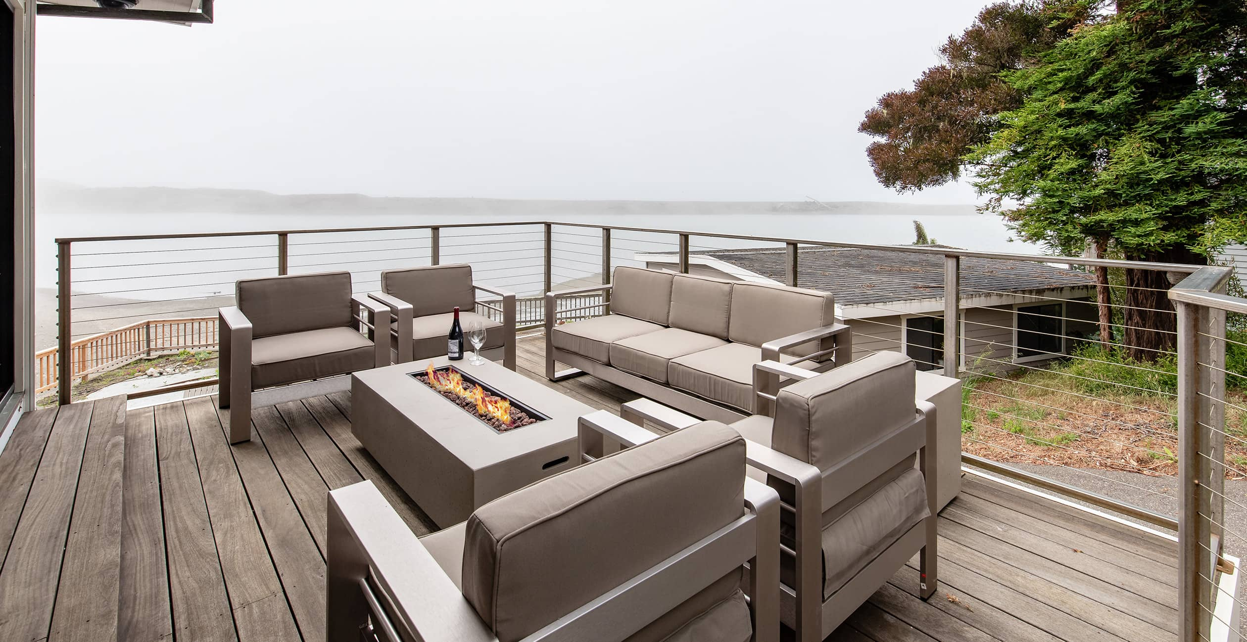 Sunset House outdoor seating area