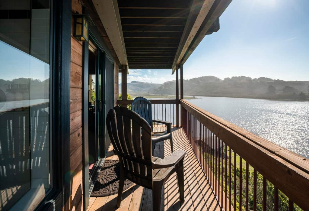 Private deck with views of the Russian River and the Pacific Ocean