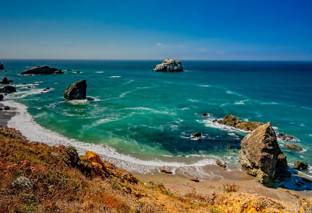Beach and Pacific Ocean on the Sonoma Coast