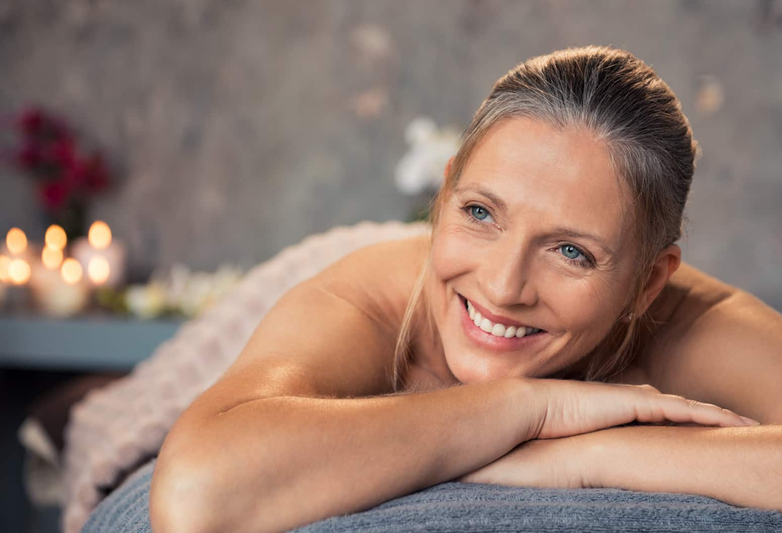 an older woman at a massage